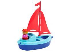 Парусная лодка с матросом (голубая), Ecoiffier