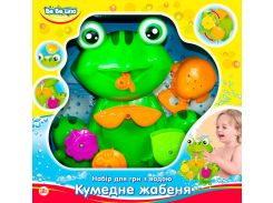 Игрушка для купания Забавный лягушонок (укр. упаковка) - набор, BeBeLino