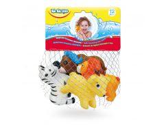 Животные-пищалки для ванной Зоопарк (4 шт.), BeBeLino
