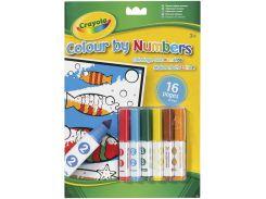Книга-раскраска по номерам с фломастерами, Crayola