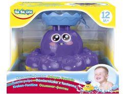 Осьминог-фонтан, игрушка для купания (фиолетовый), BeBeLino