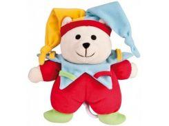 Музыкальная плюшевая игрушка-подвеска Мишка клоун, Canpol babies