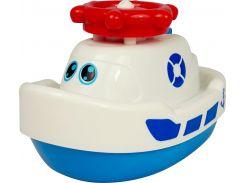 Кораблик-фонтан, игрушка для купания (белый), BeBeLino