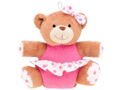 Мишка с пищалкой (розовый сарафан), Canpol babies