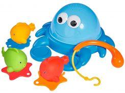 Краб и рыбки с удочкой, игрушка для ванной, ABC