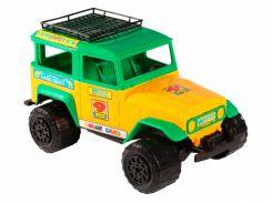 Джип - машинка, желто-зеленый, 38 см, Wader