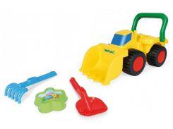 Бульдозер с игрушками для песка, Wader
