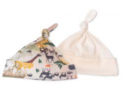 Набор шапочек Африка (2 шт.) 0-3 мес, Мамин Дом