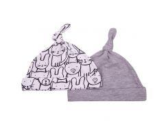 Набор шапочек Графити (2 шт.) 0-3 мес, Мамин Дом