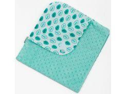 Плед-конверт Minky Лето, 75 × 75 см, мятный, Twins