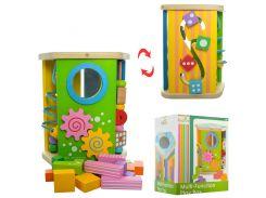 Деревянная игрушка Центр развивающий MD 1298  лабиринт, ББ