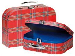 Набор игровых чемоданов Красные в полоску, Goki