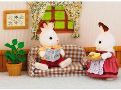 Шоколадный кролик-папа на диване, Sylvanian Families