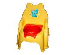 Горшок детский №2 желтый, Фламинго