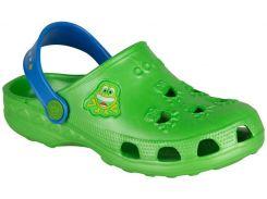 Клоги детские Little Frog, Coqui, зеленые с синим (23-24)