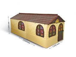 "DOLONI-TOYS ""Будинок з шторками"" артикул 02550/22, Фламинго"