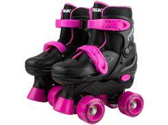 Роликовые коньки Twirler (черные с розовым), размер 30-33, Stiga