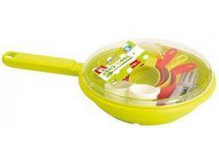 Набор посуды в сковородке (салатовый), Ecoiffier