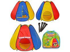 Палатка детская игровая M 0506  пирамида, МЭТР Плюс