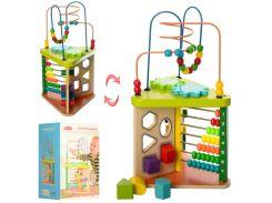 Деревянная игрушка Центр развивающий MD 1258  лабиринт на пров, Wooden Toys