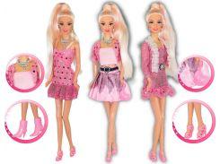 Кукла Ася с 3 розовыми нарядами и аксессуарами, Розовый стиль, Ася