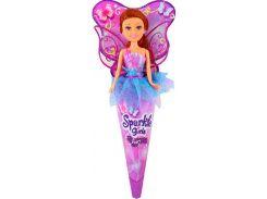 Волшебная фея Николь в сиренево-голубом платье с роз. крыльями (25 см), Sparkle girlz, Funville