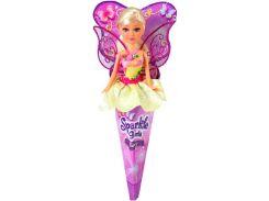 Волшебная фея Бриана в желтом платье с роз. крыльями (25 см), Sparkle girlz, Funville
