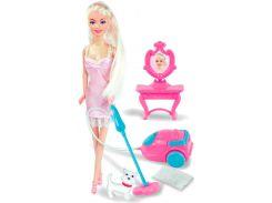 Кукла Ася с пылесосом и собачкой, Уборка, Ася