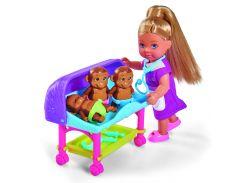Кукла Эви ветеринар с аксессуарами, 12 см, Steffi & Evi Love