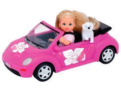 Кукла Эви с щенком в машине, Steffi & Evi Love