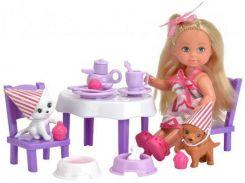 Набор с куклой Эви Вечеринка домашних животных, Steffi & Evi Love
