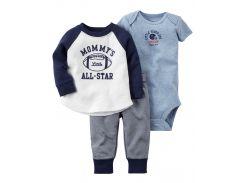 Боди + Штаны + Кофта Carters на новорожденного мальчика до 55 см. Набор из 3-х частей