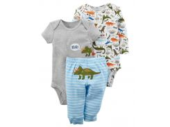 2 Боди + Штаны Carters на новорожденного мальчика до 55 см. Комплект из 3-х вещей