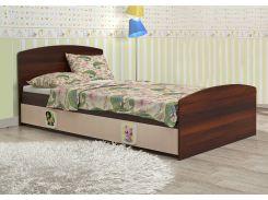 Кровать «3в1» венге св+ орех. т. (ящ.3 секц, 90x190)