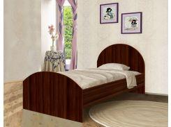 Кровать с ящиком из ДСП орех темный (90*190см)