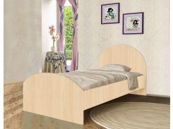 Кровать с ящиком из ДСП венге светлый (90*190см)