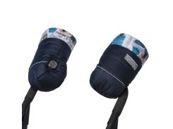 Муфта Синя з блакитним декором