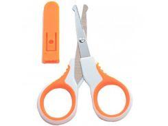 Ножницы детские с чехлом (7102 оранжевый)