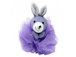 Мочалка-зверюшка (7406 зайчик, фиолет.цвет)