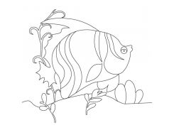 "Холст с контуром ""Рыбка"" (15см*15см)"