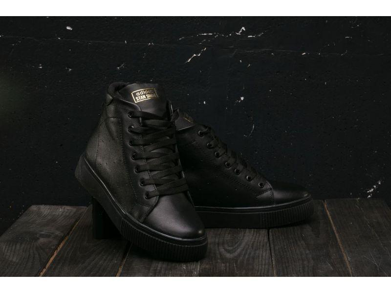 63484b15 ... черный Кеды Yuves W20 (Adidas Stan Smith) (зима, женские, кожа, ...