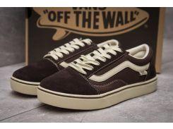 Кроссовки мужские  Vans Old Skool, коричневые (11037) размеры в наличии ► [  44 (последняя пара)  ]