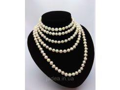 Жемчужное ожерелье из речного жемчуга, длина 2 м