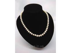 Жемчужное ожерелье из речного жемчуга   белого цвета, длина ожерелья - 47см.