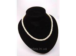 Жемчужное ожерелье из речного жемчуга  идеально белого цвета
