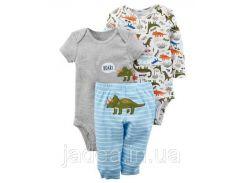Детскийкомплект из трех вещей для малыша, боди, штаники Carter's