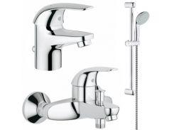 Набор смесителей для ванны Grohe Euroeco 123226S