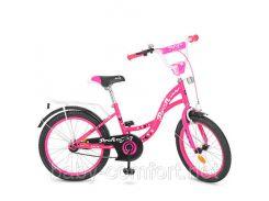 Двухколесный велосипед 20 дюймов PROFI Y2023, Butterfly, малиновый, звонок, подножка