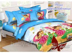 Комплект постельного белья подростковый Даша-путешественница