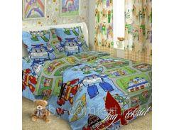 Детский комплект постельного белья Robocar Poli
